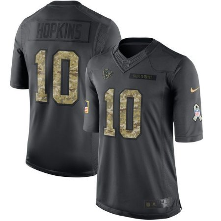 Jersey - 10 DeAndre Hopkins - Salute to Service  - Houston Texans - MASCULINA