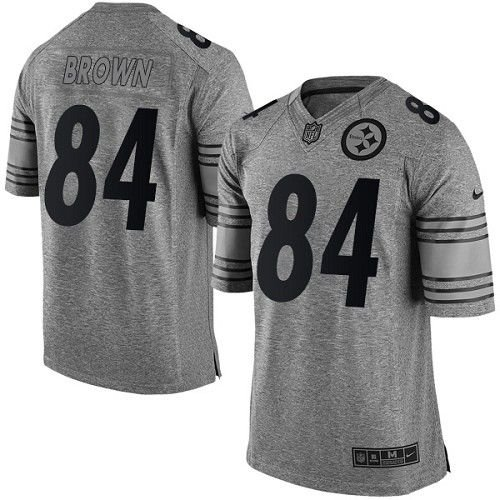 Jersey - 84 Antonio Brown - Gridiron Grey - Pittsburgh Steelers