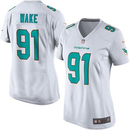 Jersey - 91 Cameron Wake - Miami Dolphins - FEMININA