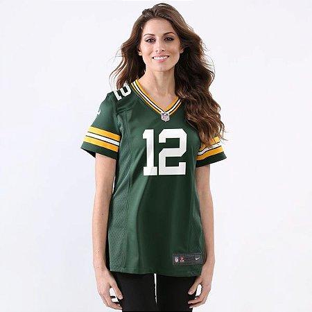 Jersey - 12 Aaron Rodgers - Green Bay Packers - FEMININA