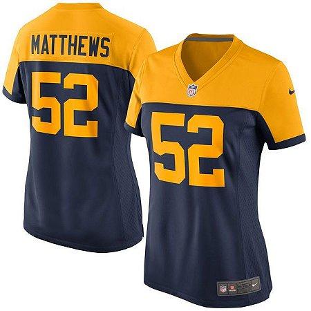 Jersey - 52 Clay Matthews - Green Bay Packers - FEMININA