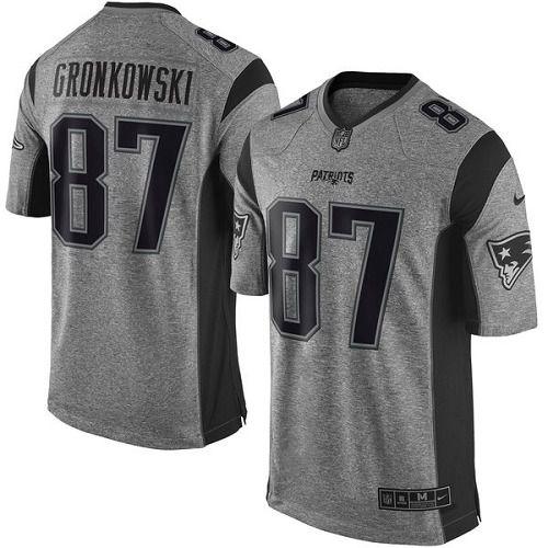 Jersey - 87 Rob Gronkowski - Gridiron Grey - New England Patriots