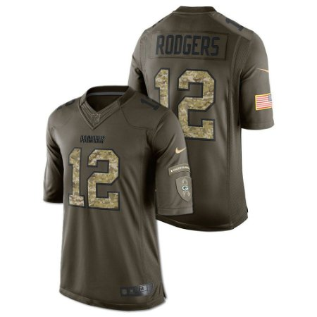 Jersey - 12 Aaron Rodgers - Salute to Service  - Green Bay Packer