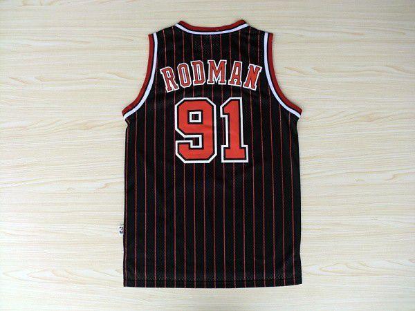 Jersey Hardwood Classics - 91 Dennis Rodman - Chicago Bulls Nike - MASCULINA