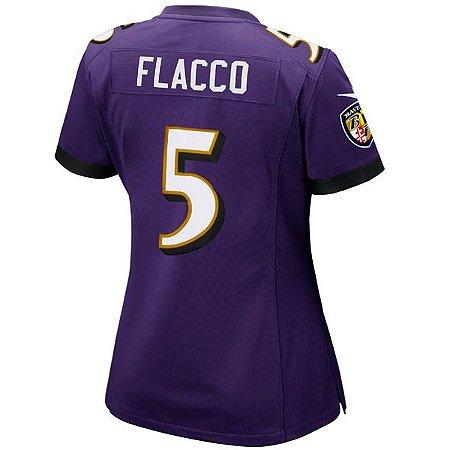 Jersey - 5 Joe Flacco - Baltimore Ravens - FEMININA