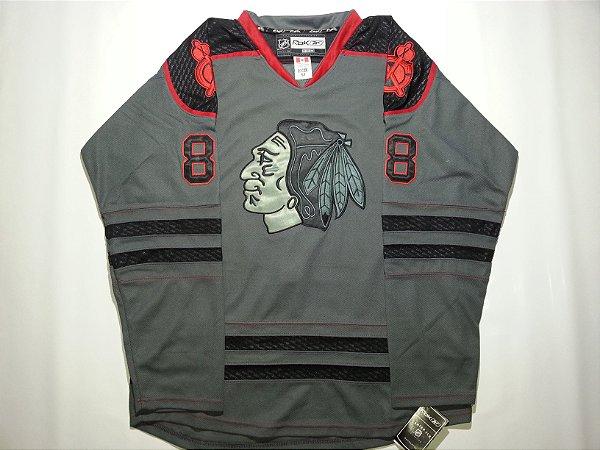 PRONTA ENTREGA  -  Jersey Limited - 88 Kane - Chicago black hawks - MASCULINA