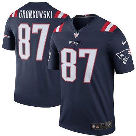 Jersey - 87 Rob Gronkowski  - New England Patriots - Color Rush