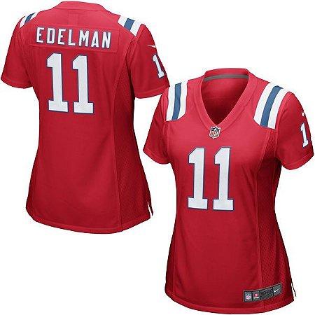 Jersey - 11 Julian Edelman - New England Patriots - FEMININA