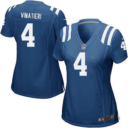 Jersey - 4 Adam Vinatieri -  Indianapolis Colts - FEMININA
