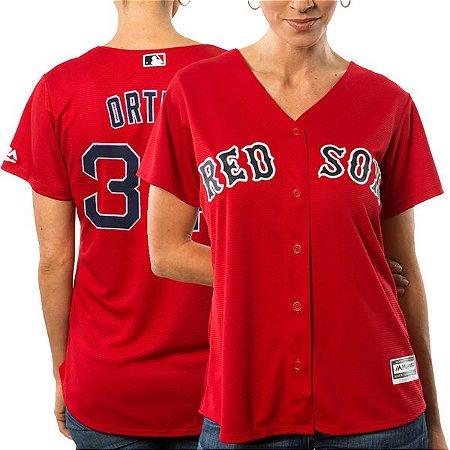 Jersey - 34 David Ortiz - Boston Red Sox - FEMININA