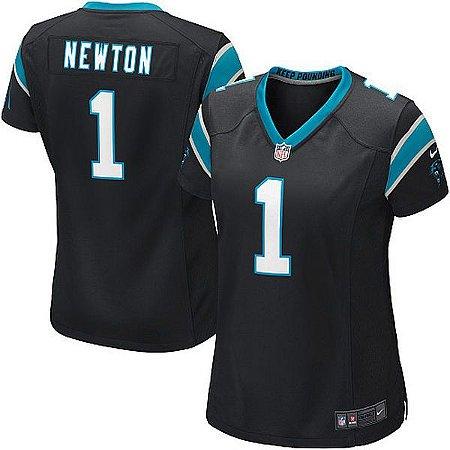 Jersey - 1 Cam Newton - Carolina Panthers  - FEMININA