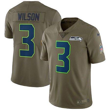 Jersey - 3 Russell Wilson  - Salute to Service -  Seattle Seahawks