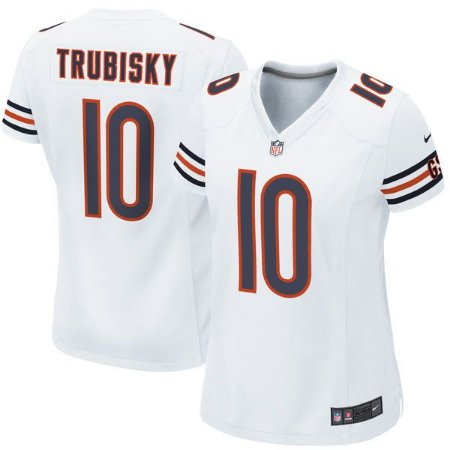 Jersey - 10 Mitchell Trubisky - Chicago Bears - FEMININA