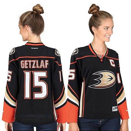 Jersey  - 15 Ryan Getzlaf - Anaheim Ducks - Feminina