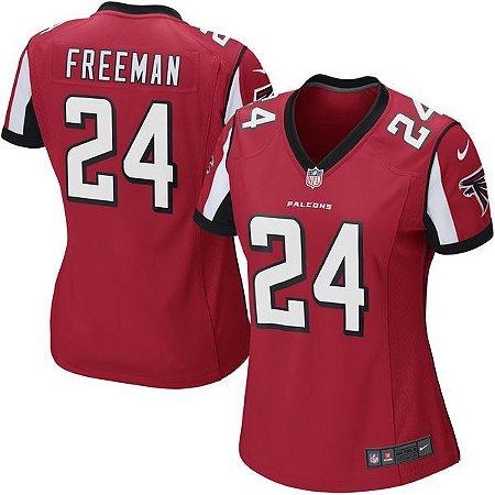 Jersey - 24 Devonta Freeman - Atlanta Falcons - FEMININA