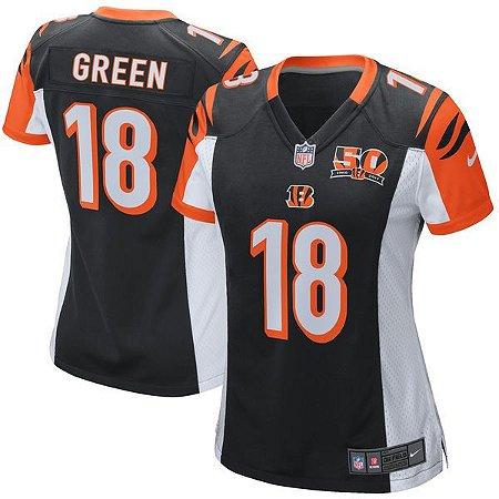 Jersey - 18 AJ Green - Cincinnati Bengals - Feminina