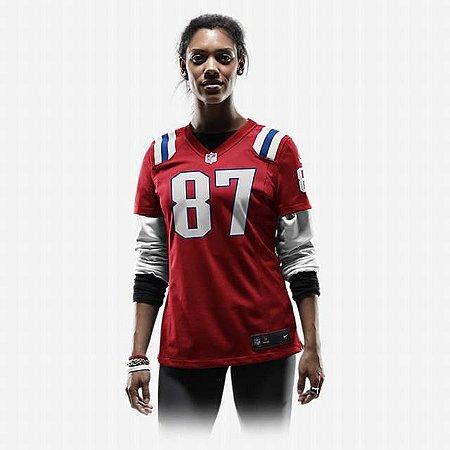 Camisa - 87 Rob Gronkowski - New England Patriots - FEMININA