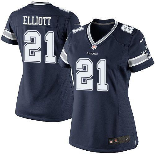 Camisa - 21 Ezekiel Elliott - Dallas Cowboys - FEMININA