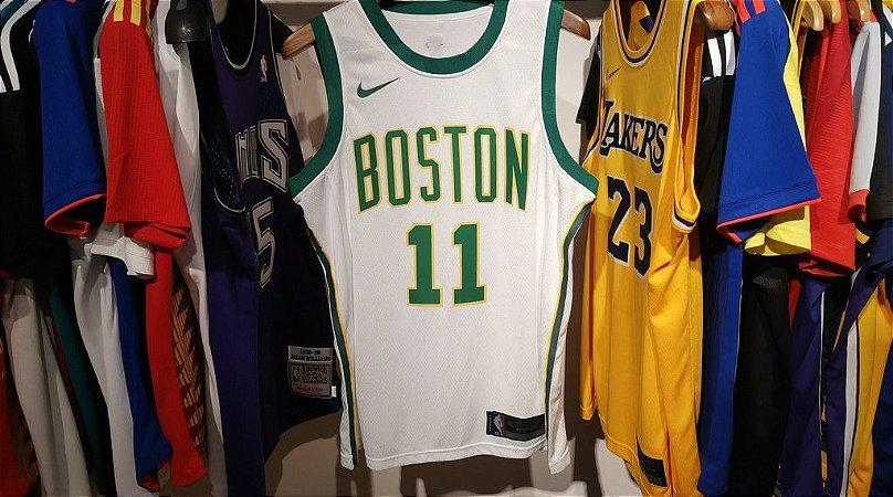 Camisa Boston Celtics - 33 Larry Bird - 11 Kyrie Irving - 7 Jaylen Brown - 0 Jayson Tatum - 12 Terry Rozier
