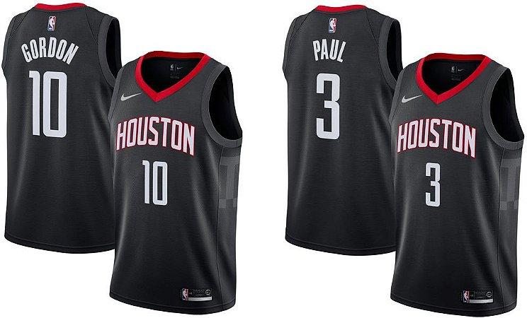 Camisa Houston Rockets - 13 James Harden - 3 Chris Paul