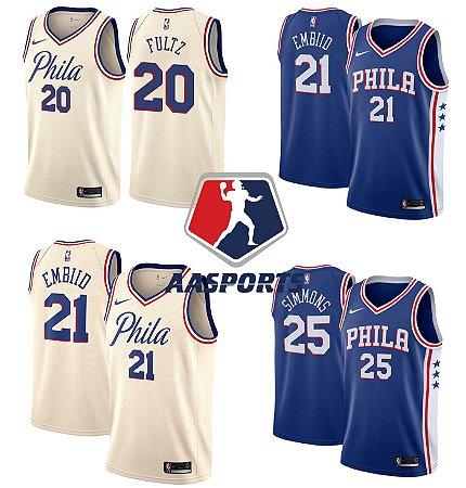 Camisa Philadelphia 76ers - 21 Joel Embiid - 20 Markelle Fultz - 25 Ben Simmons
