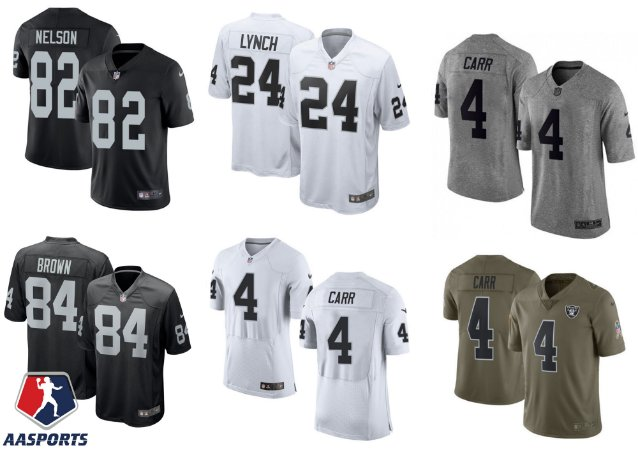 Camisa Oakland Raiders - 4 Derek Carr - 24 Marshall Lynch - 82 Jordy Nelson - 84 Antonio Brown
