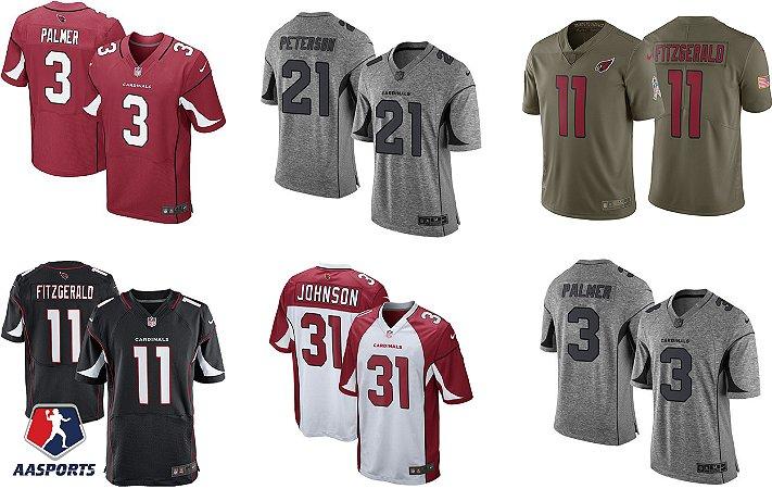 Camisa Arizona Cardinals - 3 Carson Palmer - 11 Larry Fitzgerald - 21 Patrick Peterson - 31 David Johnson