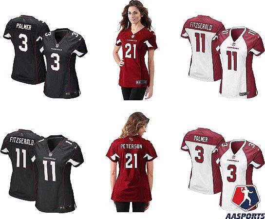 Frete Grátis. Código  7BHNQLYH6. Camisa Arizona Cardinals - 3 Carson Palmer  - 11 Larry Fitzgerald - 21 Patrick Peterson - aebe38bdb96