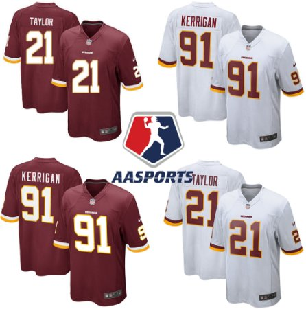 Camisa Washington Redskins - 91 Ryan Kerrigan - 21 Sean Taylor