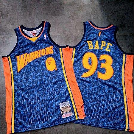 Jersey - Bape - Golden State Warriors - Mitchell & Ness