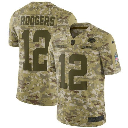 Camisa Green Bay Packers - 12 Aaron Rodgers - Salute to Service