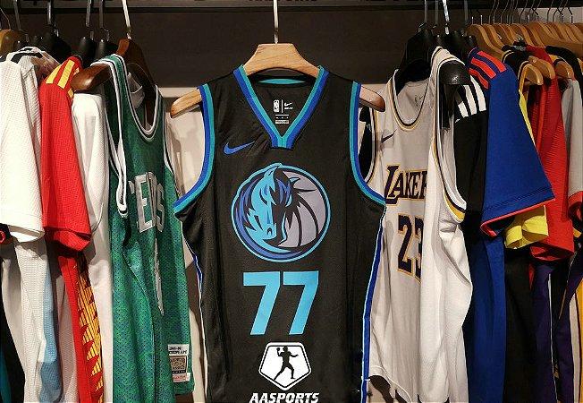 5b8f1eed1 Camisa Dallas Mavericks - City Edition - 41 Dirk Nowitzki - 77 Luka Doncic