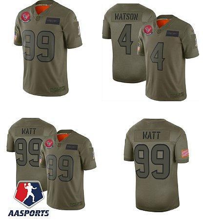 Camisa Houston Texans - 4 Deshaun Watson - 99  JJ Watt