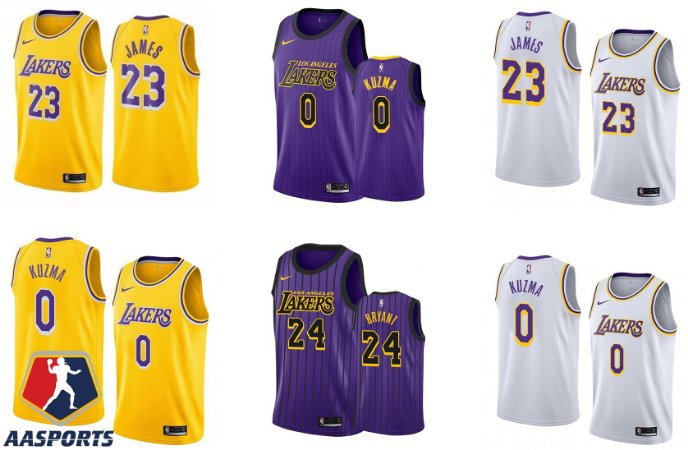 Camisa los Angeles lakers - 23 LeBron James - 24  kobe bryant - 32 Magic Johnson - 33 Kareem Abdul-Jabbar - 34 Shaquille O'Neal - 0 Kyle Kuzma