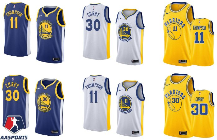 42e6e7590 Camisa Golden State Warriors - 30 Stephen Curry - 11 Klay Thompson - 35  Kevin Durant