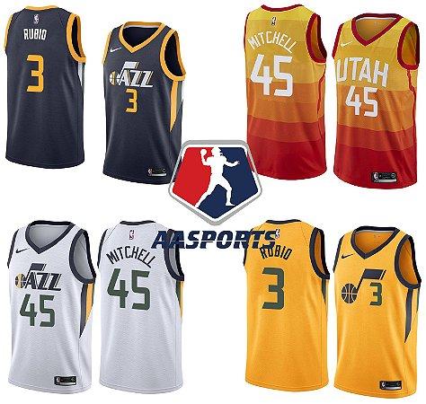 Camisa Utah Jazz - 3 Ricky Rubio - 45 Donovan Mitchell - 24 Grayson Allen