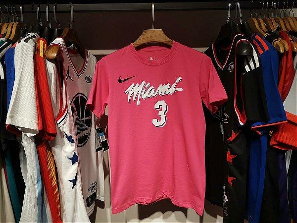 Camisa Miami Heat - 3 Dwyane Wade - com mangas