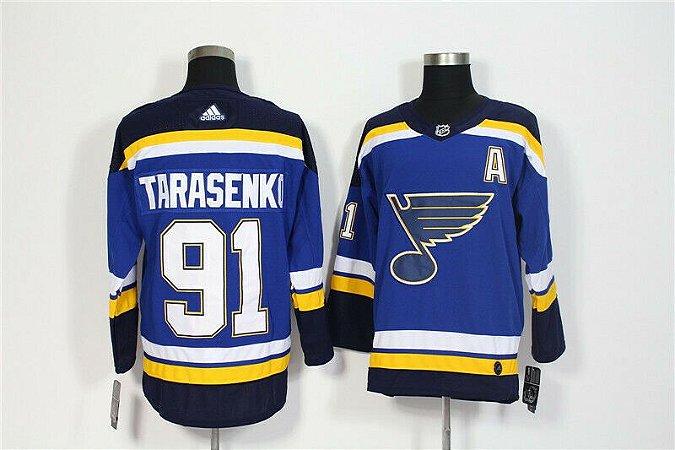 Camisa St. Louis Blues - 27 Alex Pietrangelo - 91 Vladimir Tarasenko - 10 Brayden Schenn  - 17 Jaden Schwartz - 7 Patrick Maroon - 34 Jake Allen