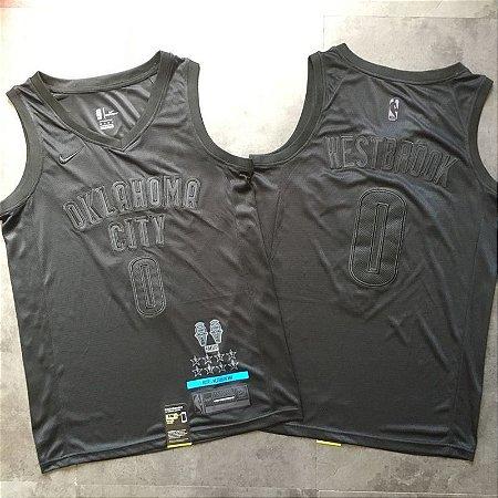 Camisa MVP - Oklahoma City Thunder - 0 Russell Westbrook - Versão Bordada