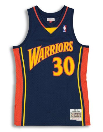 Camisa - Golden State Warrions - 30 Stephen Curry - Mitchell & Ness