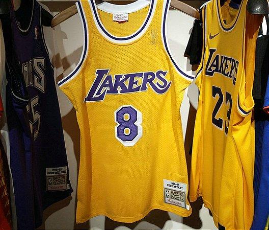 Camisa Los Angeles Lakers - 23 LeBron James - 24  kobe bryant - 32 Magic Johnson - 34 Shaquille O'Neal - 73 Dennis Rodman - 93 Bape - Mitchell & Ness