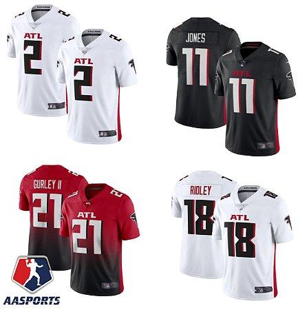 Camisa Atlanta Falcons - 2 Matt Ryan - 11 Julio Jones - 18 Calvin Ridley  - 21 Todd Gurley II