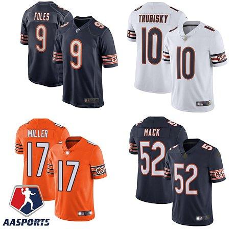 Camisa Chicago Bears - 9 Nick Foles - 52 Khalil Mack - 17 Anthony Miller