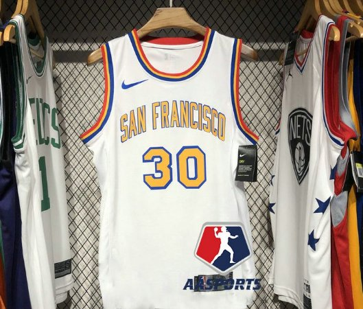 Camisa Golden State Warriors - San Francisco -  30 Stephen Curry - 11 Klay Thompson - 0 D'Angelo Russell - 2019 - 2020