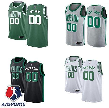 Camisa Boston Celtics - 33 Larry Bird - 11 Kyrie Irving - 7 Jaylen Brown - 0 Jayson Tatum - 12 Terry Rozier - 8 Kemba Walker - 20 Gordon Hayward - personalizada - escolha qualquer jogador do time
