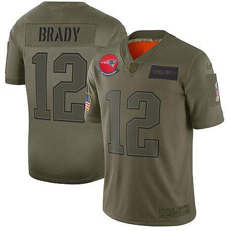 Camisa New England Patriots - 12 Tom Brady - Salute to Service