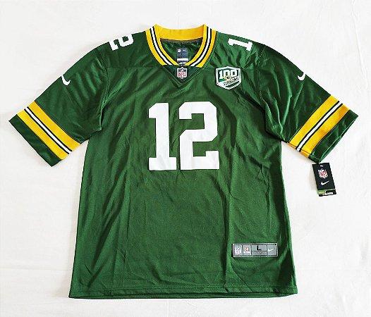 Camisa Green Bay Packers - 12 Aaron Rodgers - Pronta entrega