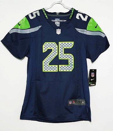 Camisa Seattle Seahawks - 25 Richard Sherman - Feminina - Pronta entrega