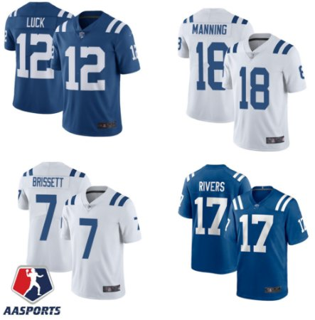 Camisa Indianapolis Colts - 12 Andrew Luck - 13 T.Y. Hilton - 18 Peyton Manning - 17 Philip Rivers