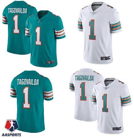Camisa Miami Dolphins - 13 Dan Marino - 13 Tua Tagovailoa - versão retrô